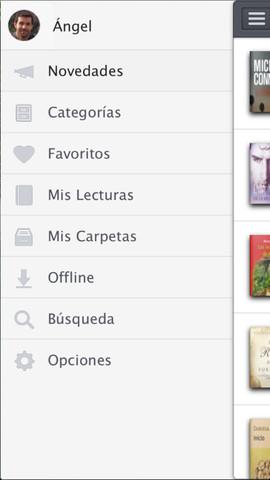 captura de pantalla del lector de libros electrónico