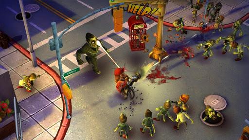 captura del juego donde el protagonista aniquila a zombies
