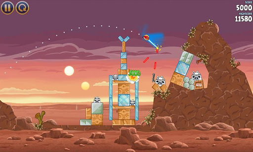 captura de Angry Birds Star Wars usando poderes