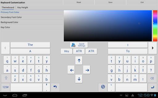 personalización de apariencia con Adaptxt Keyboard