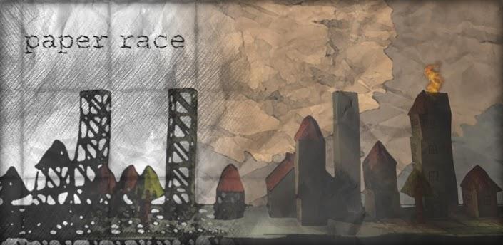 portada de paper race 3d
