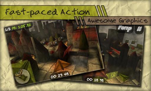 capturas de pantalla de paper race 3d