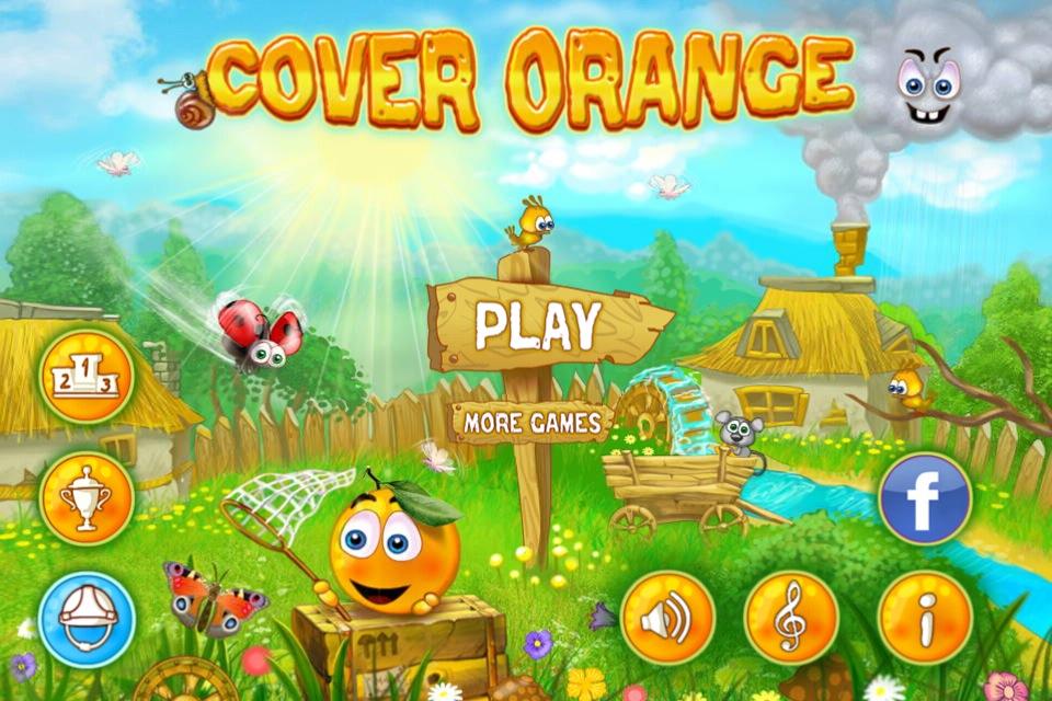 Imagen del menu en el juego cover orange para iOS
