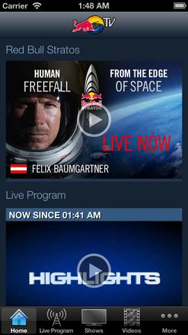 imagen de pantalla sobre red bull tv