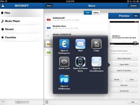 Imagen de la App tonido para iOS
