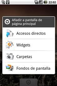 widgets anterior