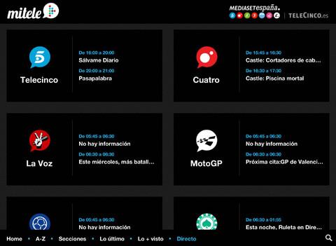 Imagen de la aplicacion mitele.es