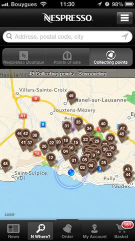 Imagen de la App Nespresso