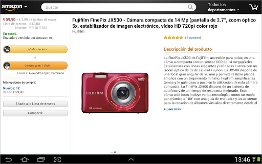 Amazon Móvil para Tablet