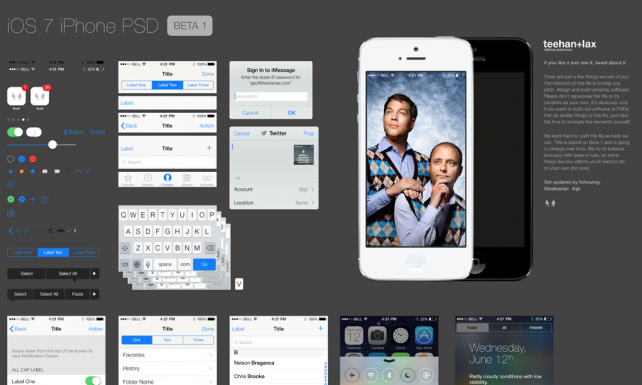 Interfaf iOS7 en PSD
