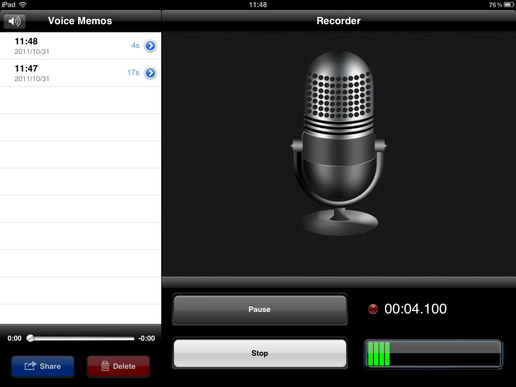 Voice Memo de Apple