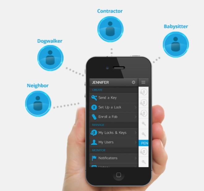 Bluetooth, app, cerradura, Kevo