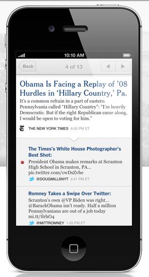 NYT a través de app