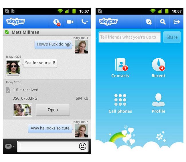 Skype en smartphone