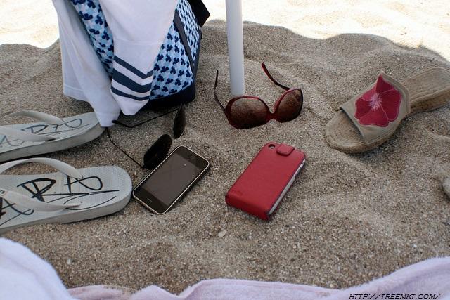 smartphone en las vacacion