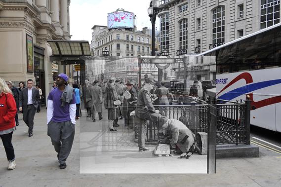 Piccadilly circus, Londres, pasado, presente