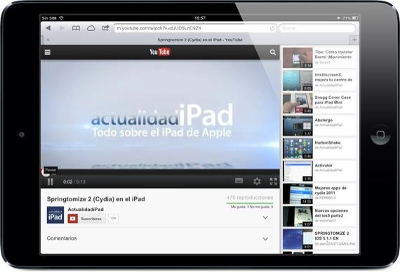 Youtube para iOS y Android