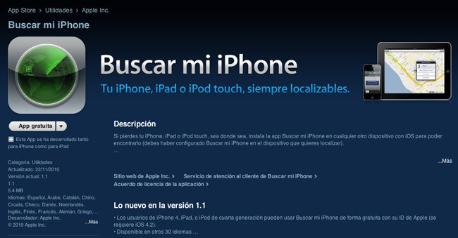 App buscar mi iphone