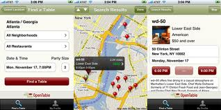 App OpenTable, iOS