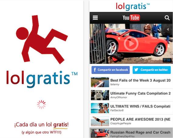 Nueva app Lolgratis