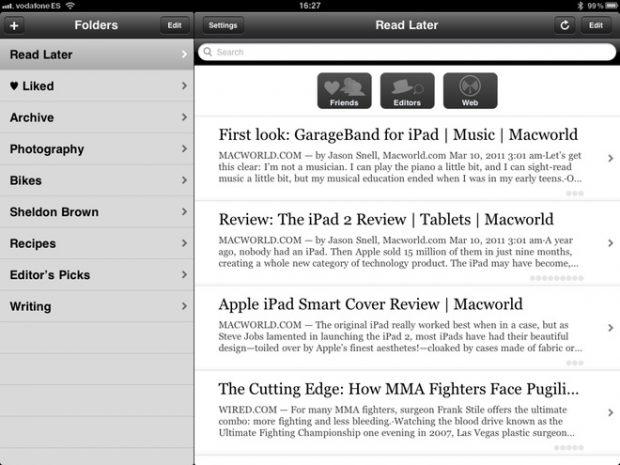 App Instapaper iOS