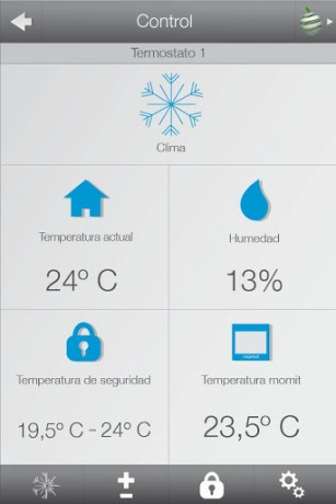 app Momit smart thermostat
