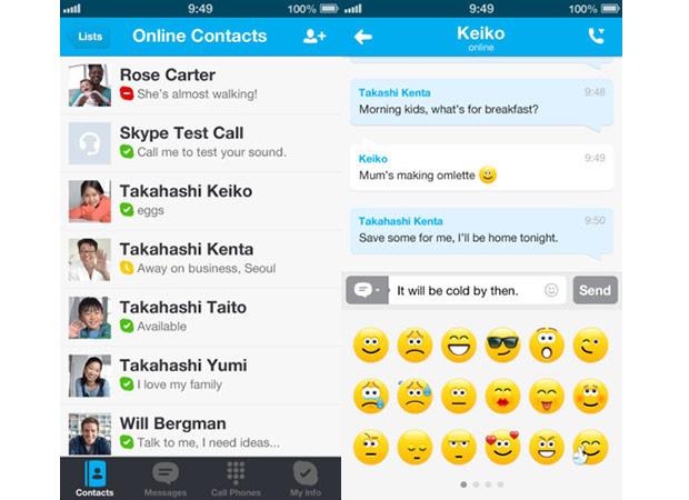 App Skype iOS