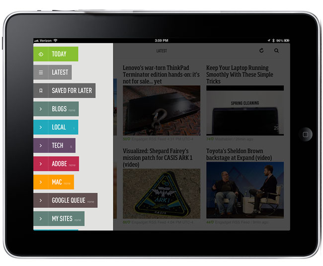 App Feedly iOS