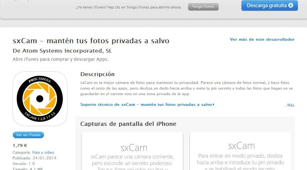 App Store sxCam