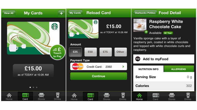 App Starbucks café