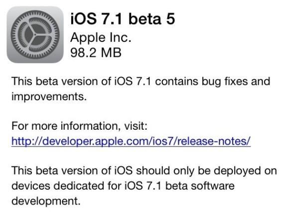 Quinta beta iOS7.1
