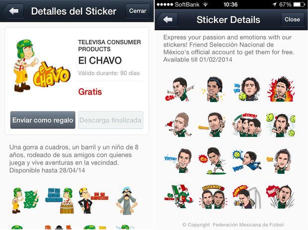 App Line stickers