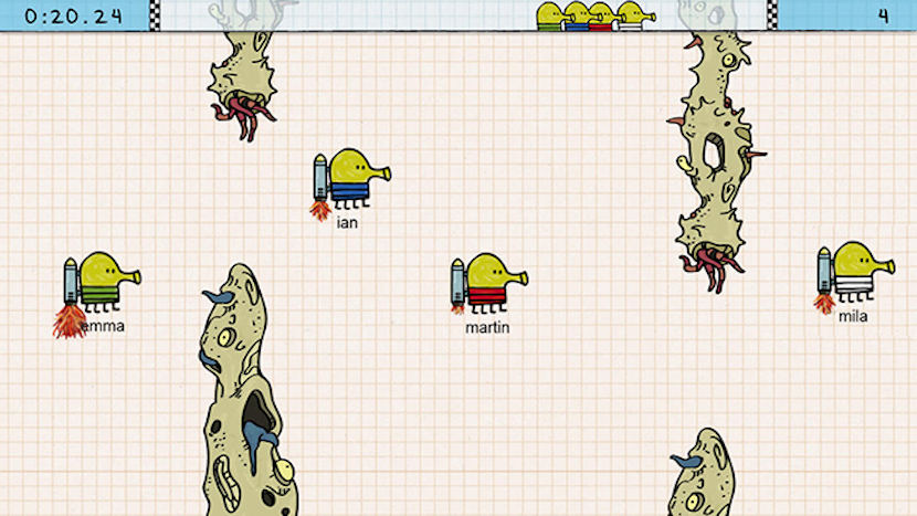 Juego Doodle Jump Race