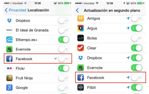 App Facebook iOS7.1