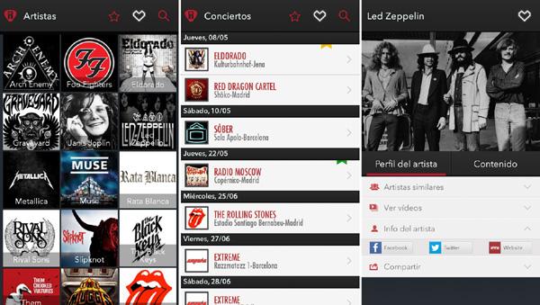 App Rockmap rock y metal