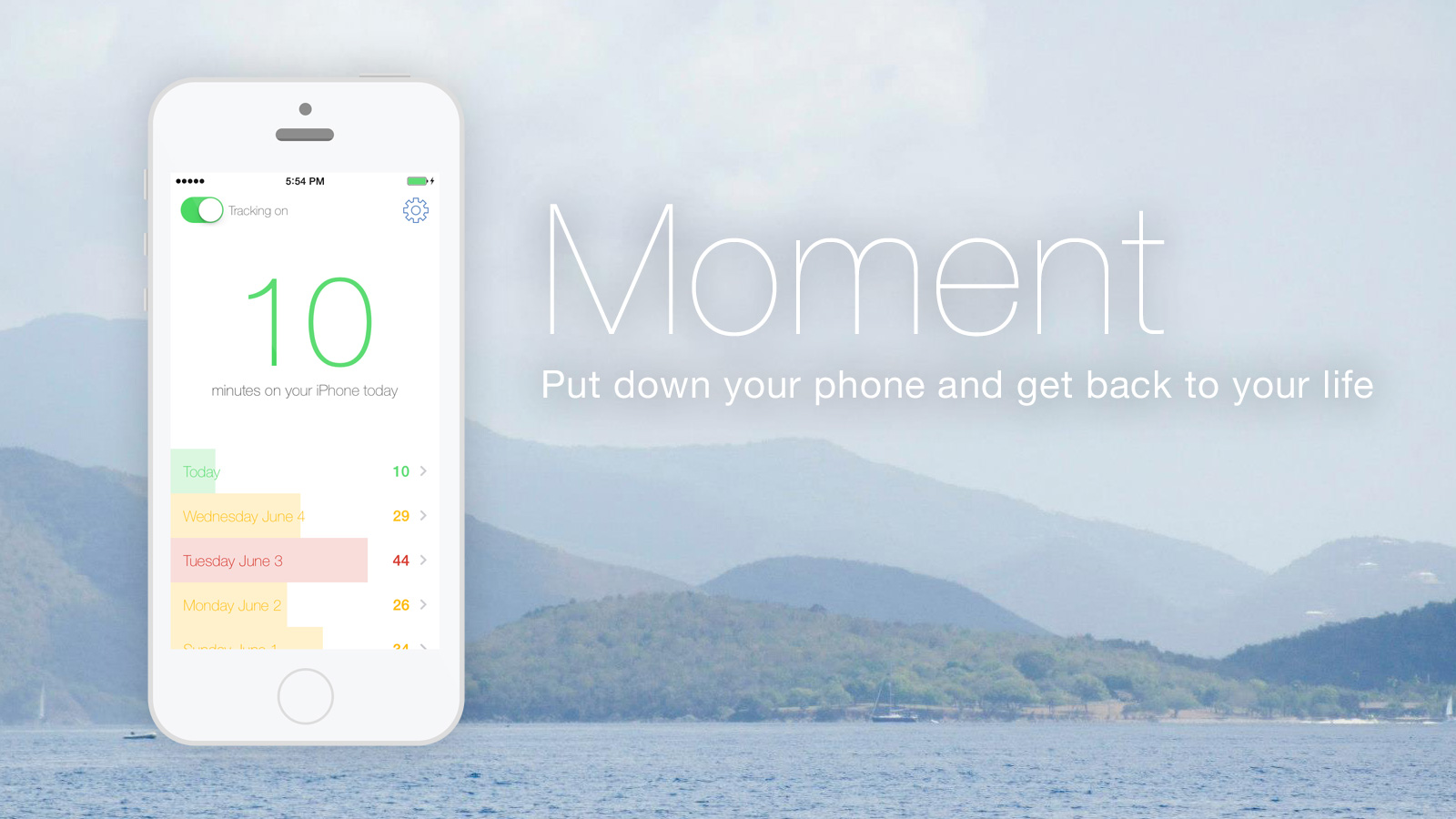 App Moment track