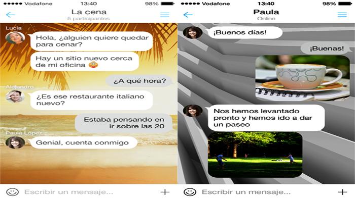 Chat y grupo de MyChat