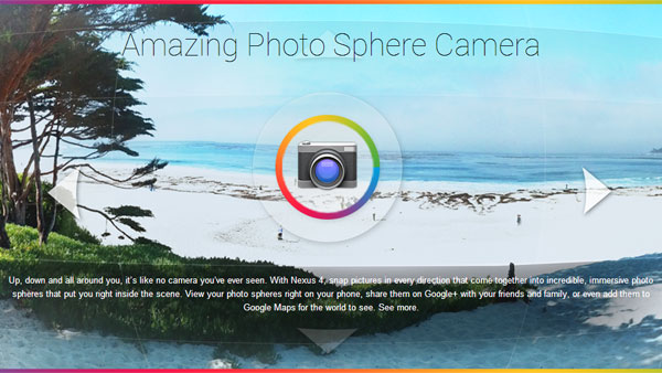 App photo sphere camera