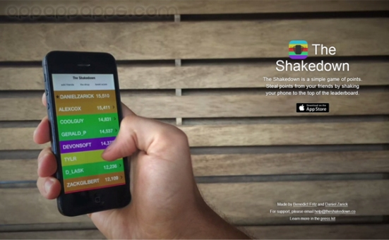 the shakedown game app
