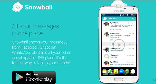 App Snowball unificadora