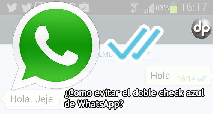 App WhatsApp, doble check azul