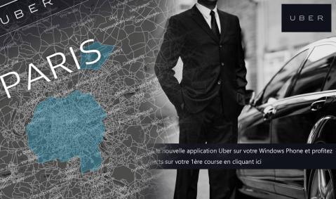 App Uber en París