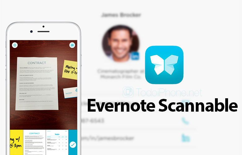 App Scannable de Evernote