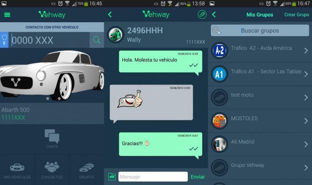 App Vehway, WhatsApp para el coche