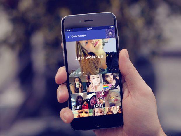 App Pleek, selfies con texto