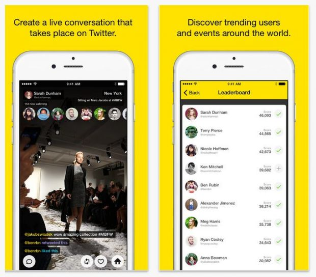 App Meerkat, vídeos en streaming