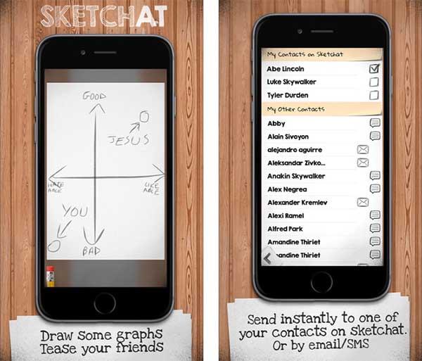 App Sketchat para iOS