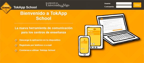App TokApp School, comunicación profesores-alumnos